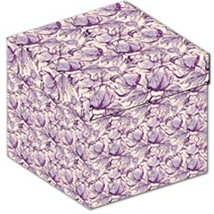 Vegetable Cabbage Purple Flower Storage Stool 12   by Mariart