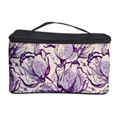 Vegetable Cabbage Purple Flower Cosmetic Storage Case by Mariart