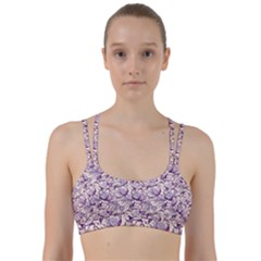 Vegetable Cabbage Purple Flower Line Them Up Sports Bra