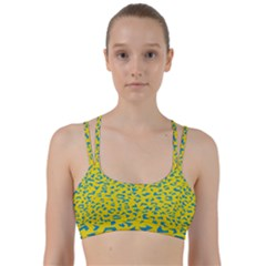 Blue Yellow Space Galaxy Line Them Up Sports Bra