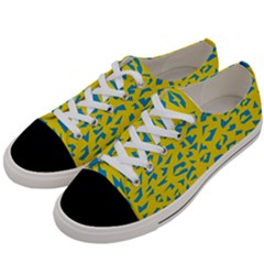 Blue Yellow Space Galaxy Women s Low Top Canvas Sneakers by Mariart