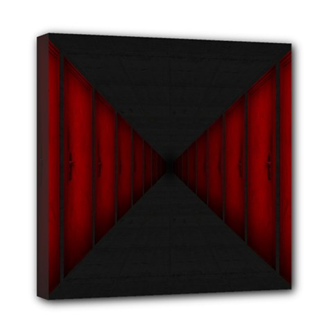 Black Red Door Mini Canvas 8  X 8  by Mariart