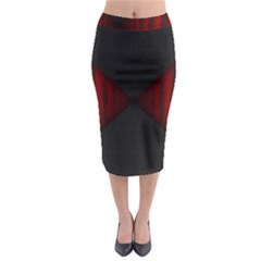 Black Red Door Midi Pencil Skirt by Mariart