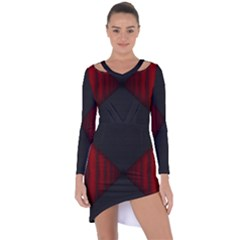 Black Red Door Asymmetric Cut Out Shift Dress