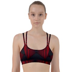 Black Red Door Line Them Up Sports Bra