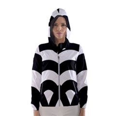 Circle White Black Hooded Wind Breaker (women)