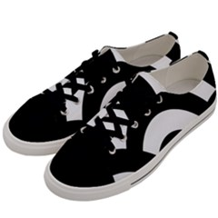 Circle White Black Men s Low Top Canvas Sneakers by Mariart