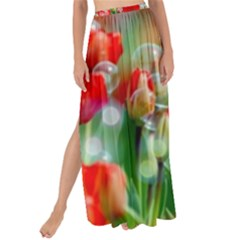 Colorful Flowers Maxi Chiffon Tie Up Sarong
