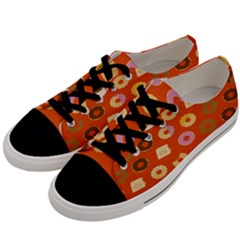 Coffee Donut Cakes Men s Low Top Canvas Sneakers by Mariart