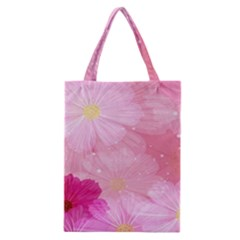 Cosmos Flower Floral Sunflower Star Pink Frame Classic Tote Bag by Mariart