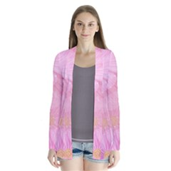 Cosmos Flower Floral Sunflower Star Pink Frame Drape Collar Cardigan by Mariart