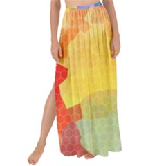 Rainbow Honeycomb Maxi Chiffon Tie-up Sarong by StacyBias