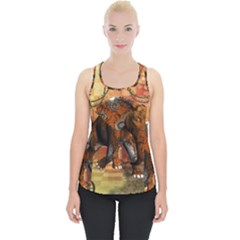Steampunk, Steampunk Elephant With Clocks And Gears Piece Up Tank Top by FantasyWorld7
