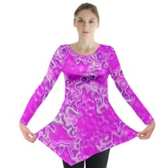 Wet Plastic, Pink Long Sleeve Tunic  by MoreColorsinLife