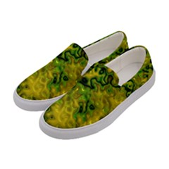 Wet Plastic, Yellow Women s Canvas Slip Ons by MoreColorsinLife