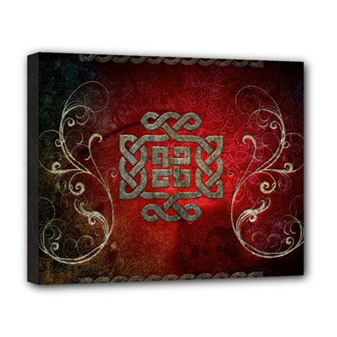 The Celtic Knot With Floral Elements Deluxe Canvas 20  X 16   by FantasyWorld7
