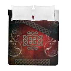 The Celtic Knot With Floral Elements Duvet Cover Double Side (full/ Double Size)
