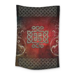 The Celtic Knot With Floral Elements Small Tapestry by FantasyWorld7