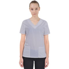 Grey Harbour Mist   Spring 2018 London Fashion Trends Scrub Top by PodArtist