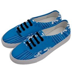 Flower Blue Men s Classic Low Top Sneakers by Mariart