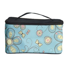 Flower Blue Butterfly Bird Yellow Floral Sexy Cosmetic Storage Case by Mariart