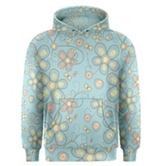 Flower Blue Butterfly Bird Yellow Floral Sexy Men s Pullover Hoodie by Mariart