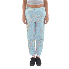 Flower Blue Butterfly Bird Yellow Floral Sexy Women s Jogger Sweatpants by Mariart