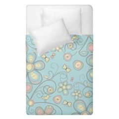 Flower Blue Butterfly Bird Yellow Floral Sexy Duvet Cover Double Side (single Size) by Mariart