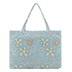 Flower Blue Butterfly Bird Yellow Floral Sexy Medium Tote Bag by Mariart