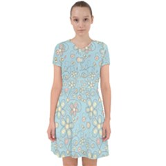 Flower Blue Butterfly Bird Yellow Floral Sexy Adorable In Chiffon Dress by Mariart