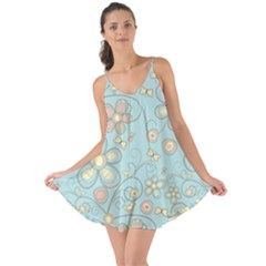 Flower Blue Butterfly Bird Yellow Floral Sexy Love The Sun Cover Up by Mariart