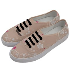 Flower Bird Love Pink Heart Valentine Animals Star Men s Classic Low Top Sneakers by Mariart