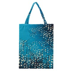 Flower Back Leaf River Blue Star Classic Tote Bag by Mariart