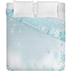 Flower Blue Polka Plaid Sexy Star Love Heart Duvet Cover Double Side (california King Size) by Mariart
