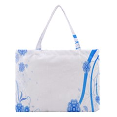 Flower Blue Sunflower Star Sexy Medium Tote Bag by Mariart