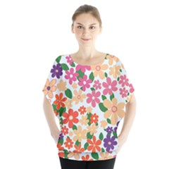 Flower Floral Rainbow Rose Blouse by Mariart