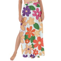 Flower Floral Rainbow Rose Maxi Chiffon Tie Up Sarong