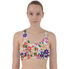 Flower Floral Rainbow Rose Back Weave Sports Bra