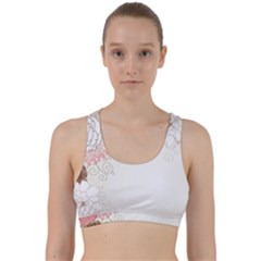 Flower Floral Rose Sunflower Star Sexy Pink Back Weave Sports Bra