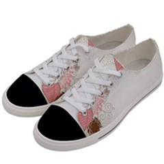 Flower Floral Rose Sunflower Star Sexy Pink Women s Low Top Canvas Sneakers by Mariart