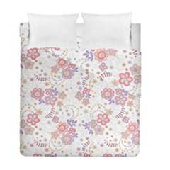 Flower Floral Sunflower Rose Purple Red Star Duvet Cover Double Side (full/ Double Size)