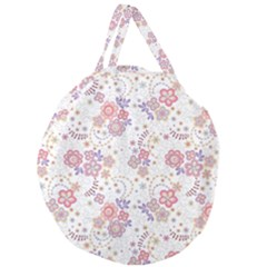 Flower Floral Sunflower Rose Purple Red Star Giant Round Zipper Tote by Mariart