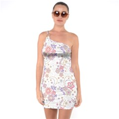 Flower Floral Sunflower Rose Purple Red Star One Soulder Bodycon Dress