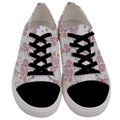 Flower Floral Sunflower Rose Purple Red Star Men s Low Top Canvas Sneakers