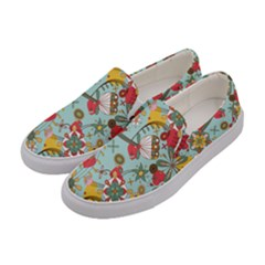 Flower Fruit Star Polka Rainbow Rose Women s Canvas Slip Ons by Mariart