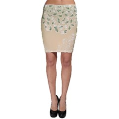 Flower Frame Green Sexy Bodycon Skirt