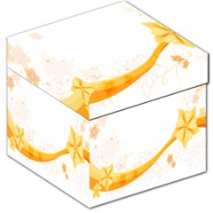 Flower Floral Yellow Sunflower Star Leaf Line Storage Stool 12   by Mariart