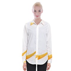 Flower Floral Yellow Sunflower Star Leaf Line Womens Long Sleeve Shirt by Mariart