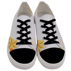 Flower Floral Yellow Sunflower Star Leaf Line Men s Low Top Canvas Sneakers