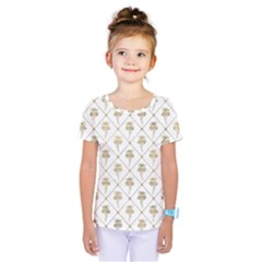 Flower Leaf Gold Kids  One Piece Tee by Mariart